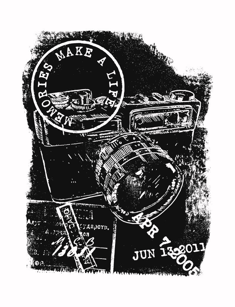 Camera Memories Triblend Racerback Tank