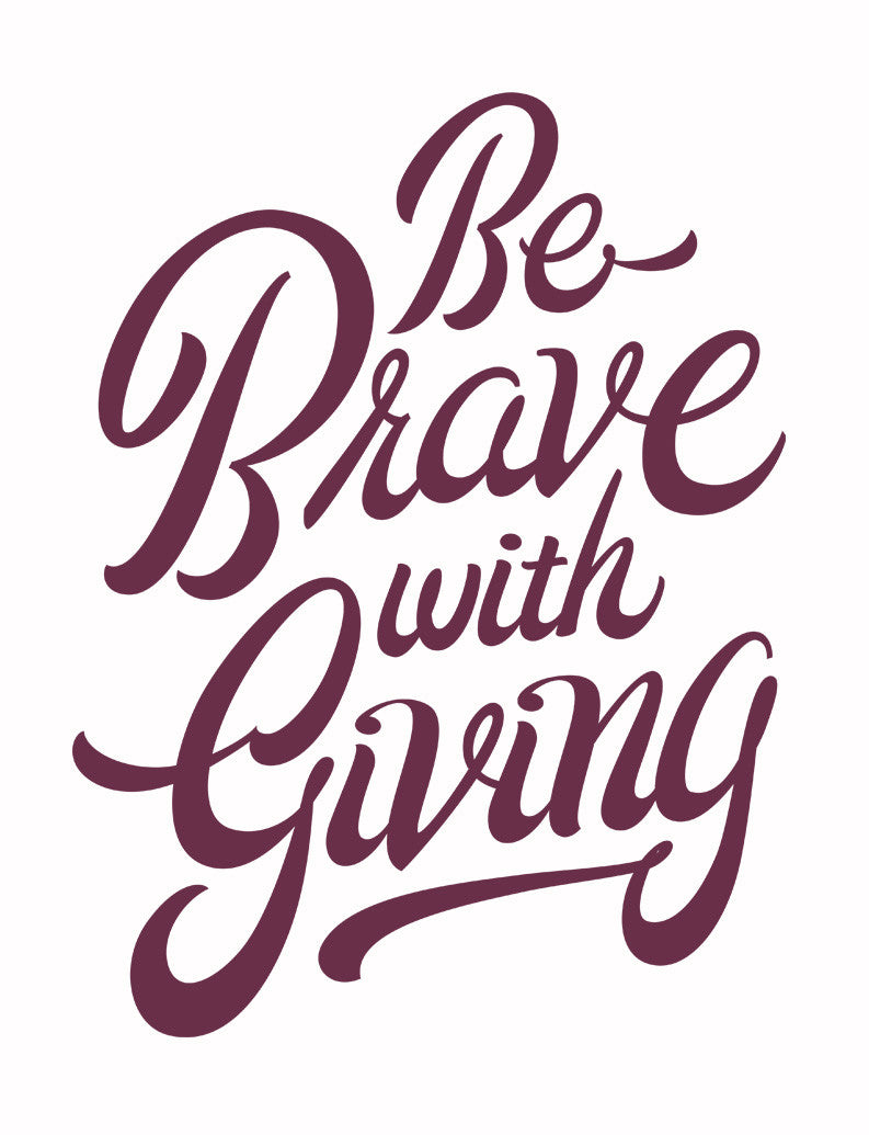 Be Brave With Giving Triblend Racerback Tank