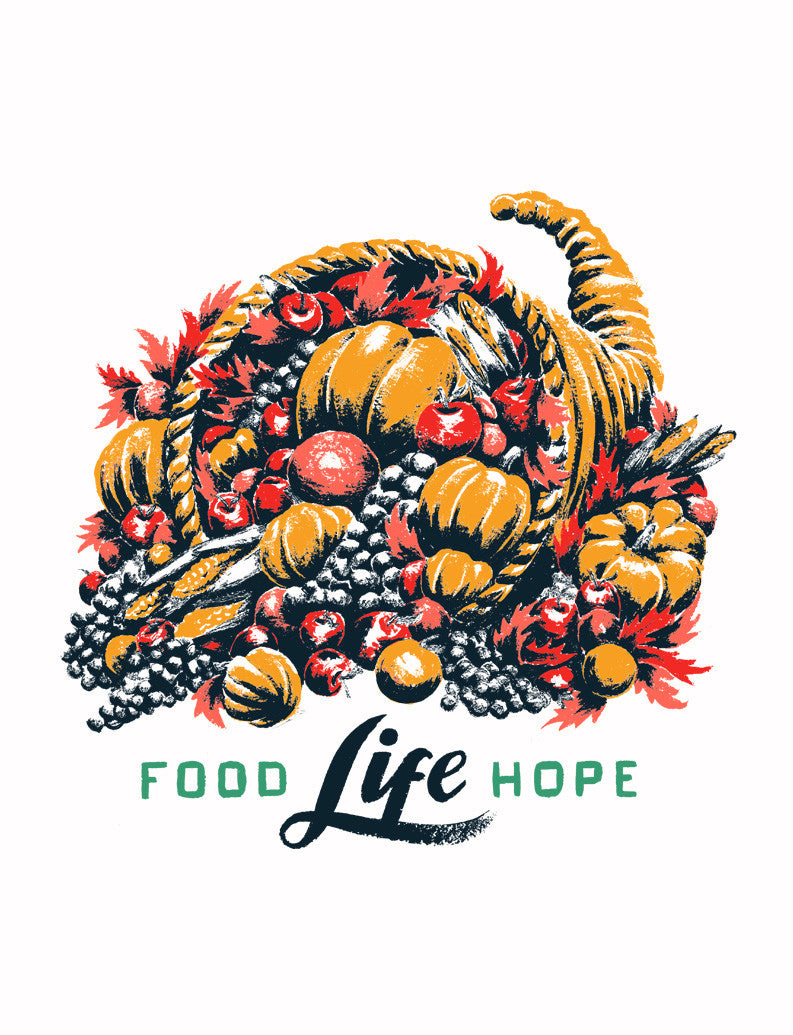 Food Life Hope Unisex Baseball Tee