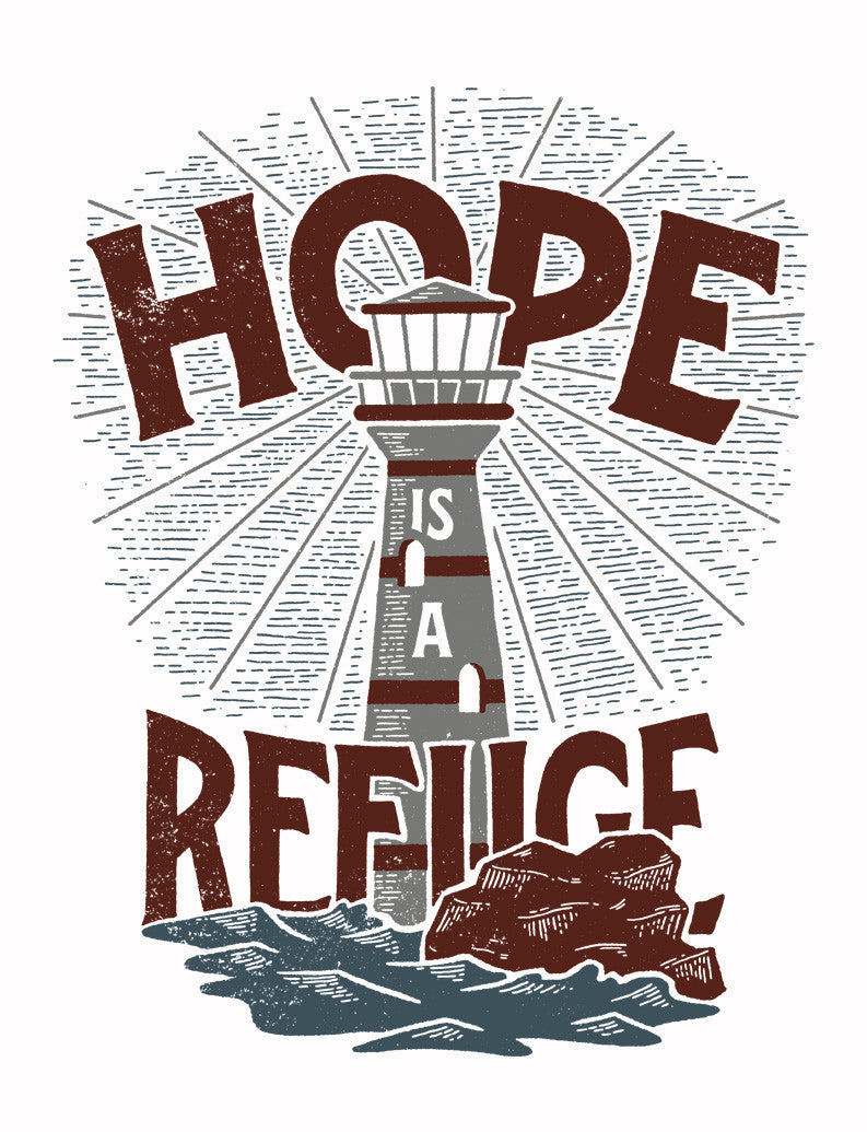 Hope is a Refuge Flowy V Neck