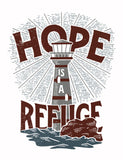 Hope is a Refuge Flowy Racerback Tank