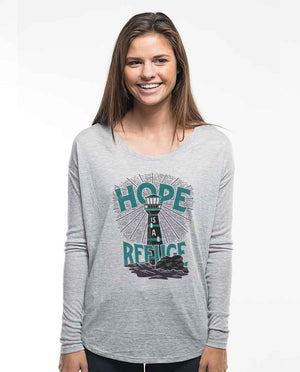 Hope is a Refuge Flowy Long Sleeve Tee