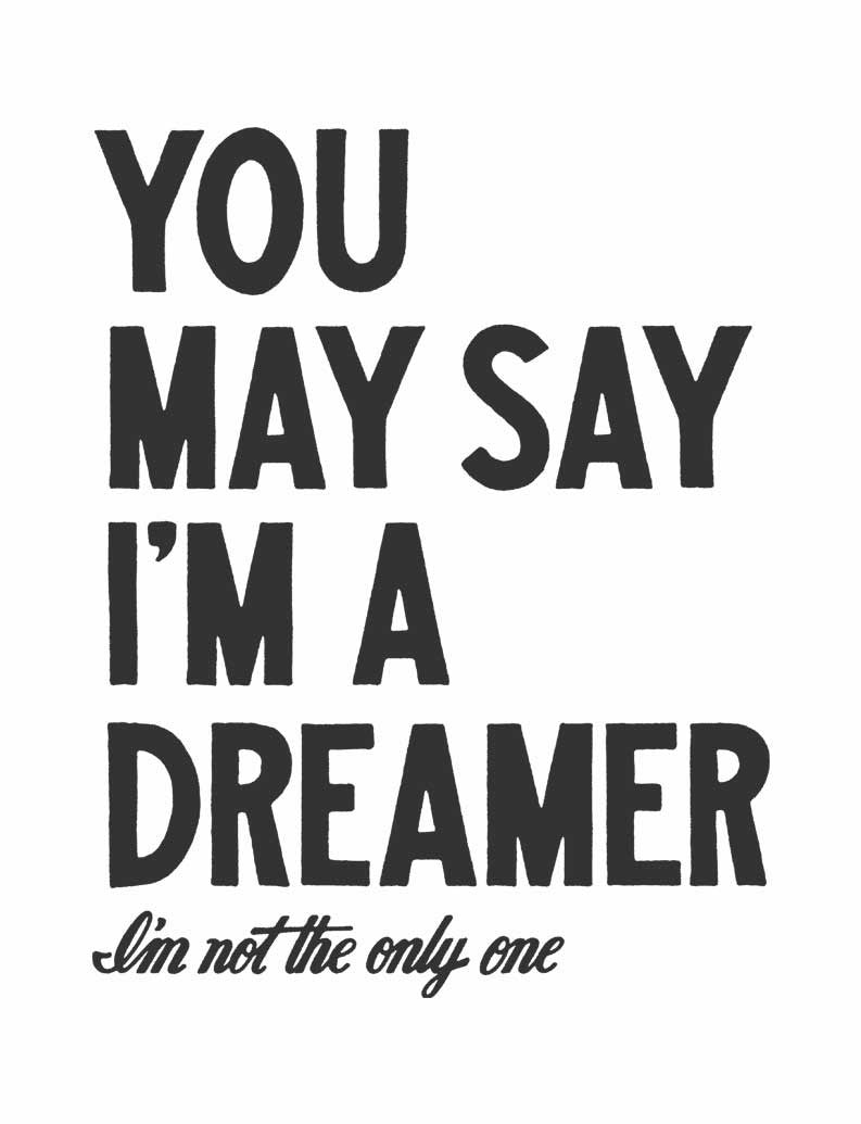 You May Say That Im A Dreamer Flowy Raglan
