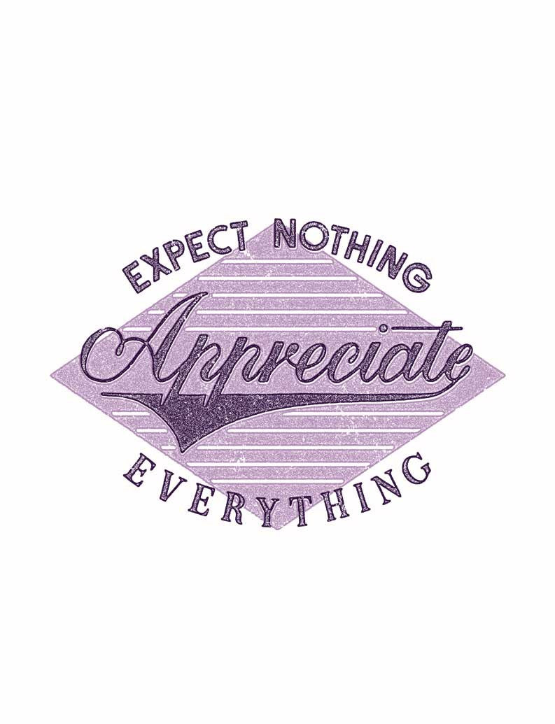 Appreciate Everything Triblend Racerback Tank