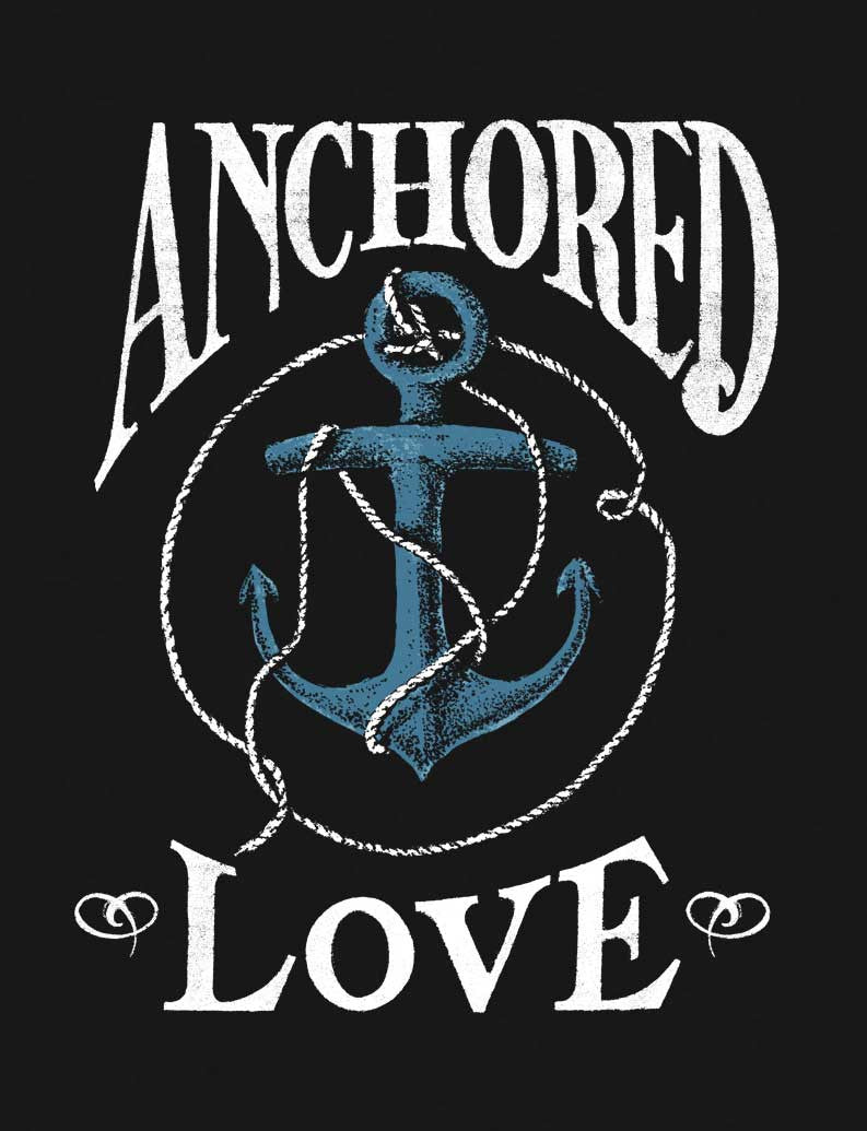 Anchored Love Flowy V Neck