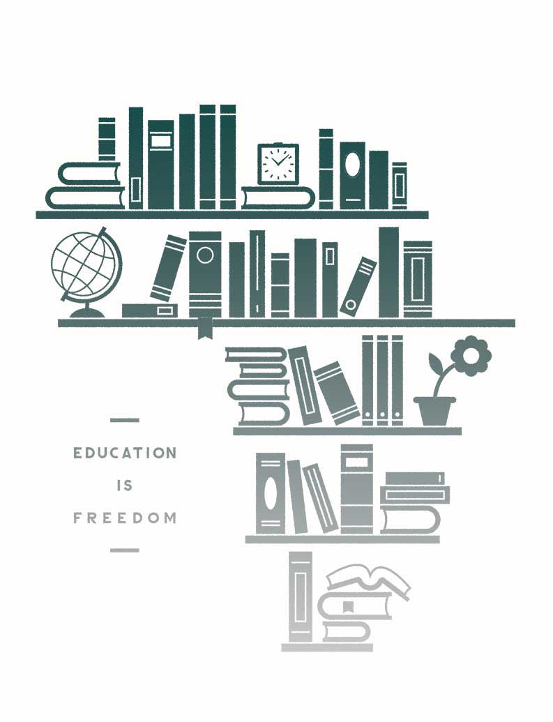 Education Is Freedom Triblend Short Sleeve Tee