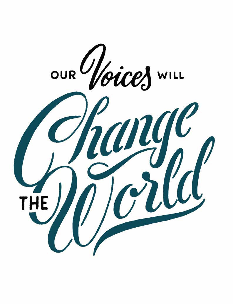 Our Voices Change the World Womens Baseball Tee