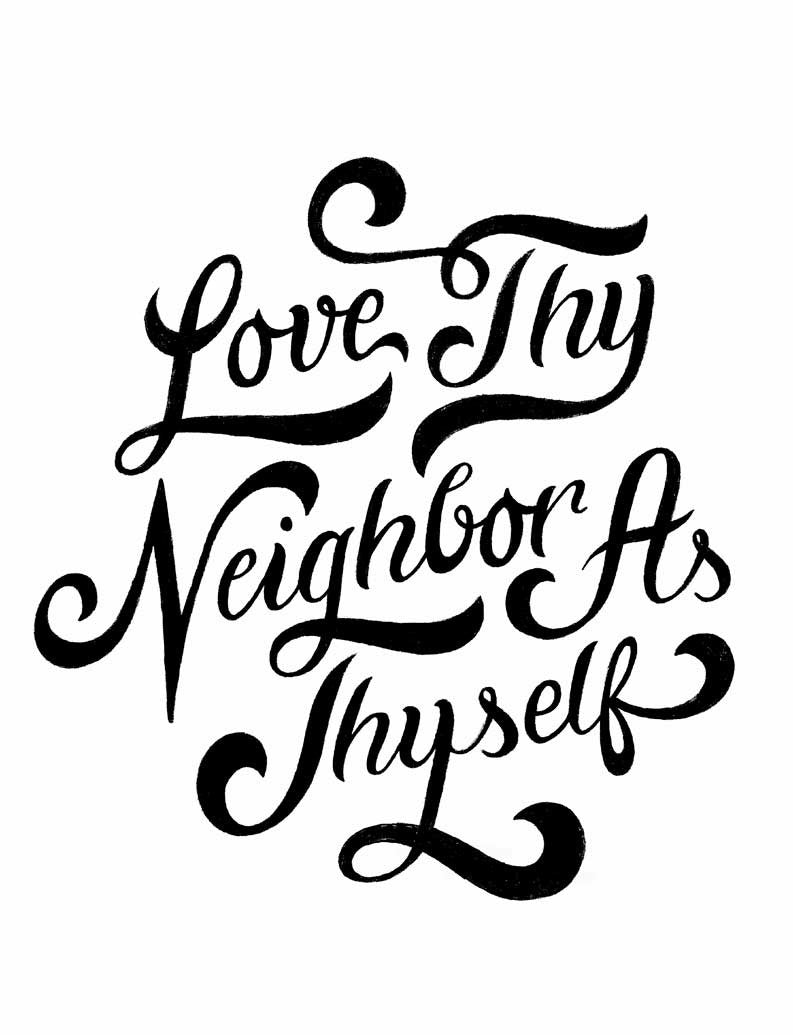 Love Thy Neighbor Triblend Racerback Tank