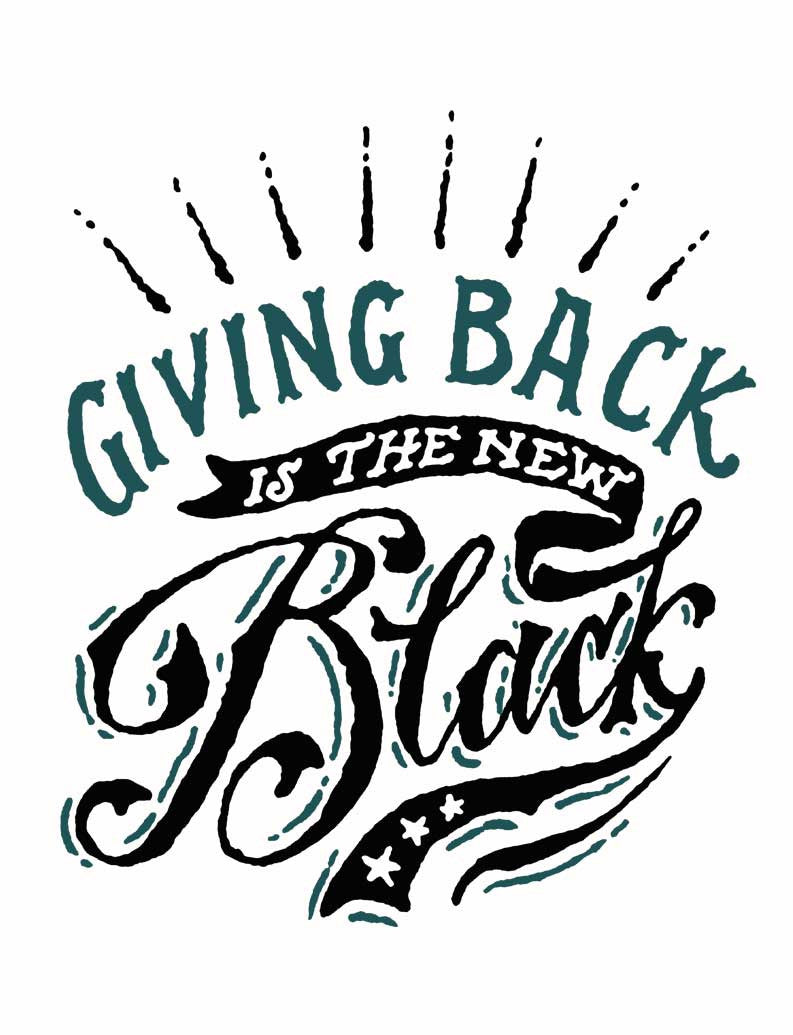 Giving Back is the New Black Triblend Short Sleeve Tee