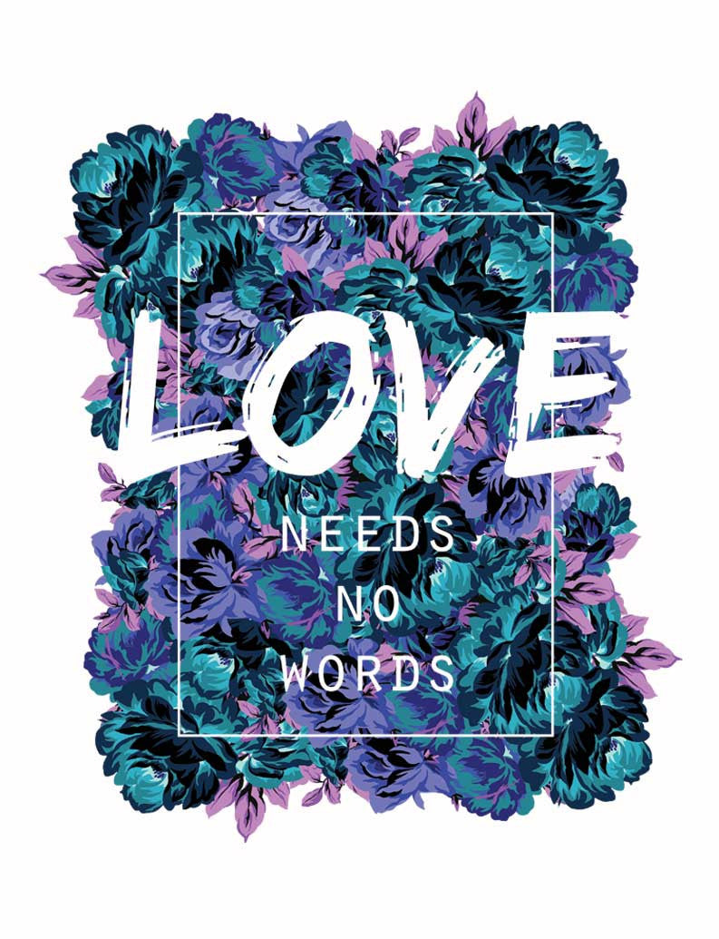 Love Needs No Words Triblend Short Sleeve Tee