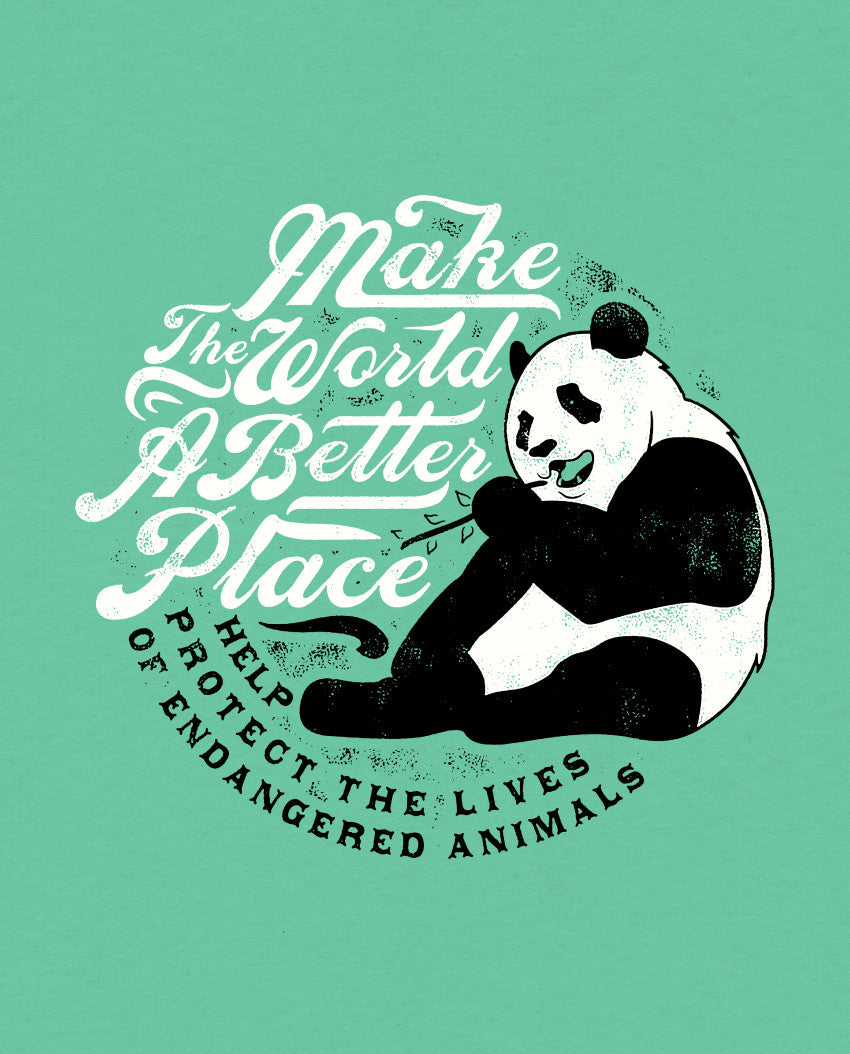 Make The World Mens Baseball Tee