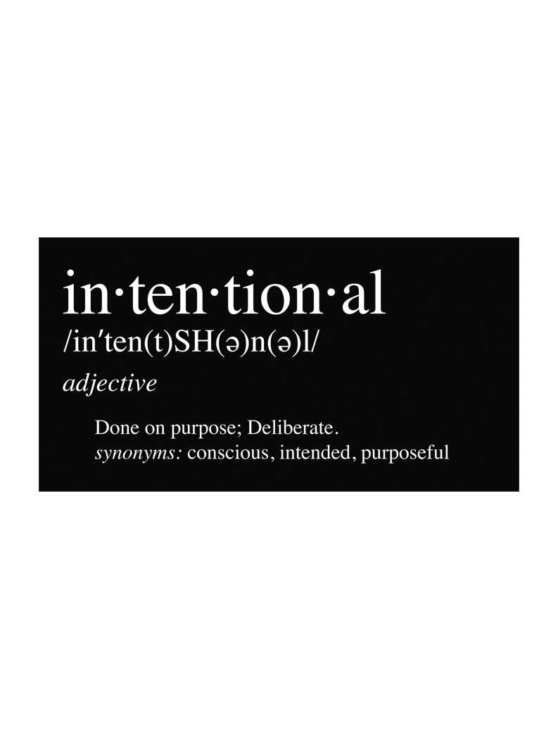 Intentional Tee