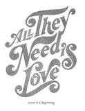 All They Need Is Love Flowy V Neck