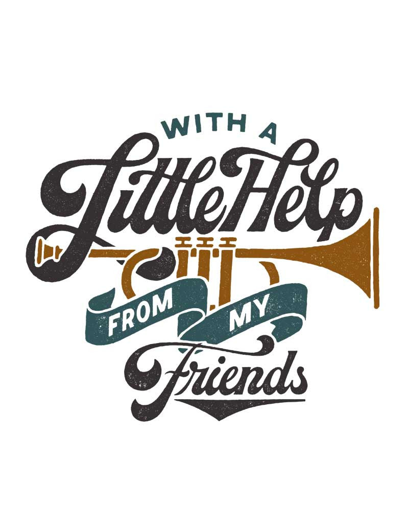 With A Little Help Triblend Short Sleeve Tee