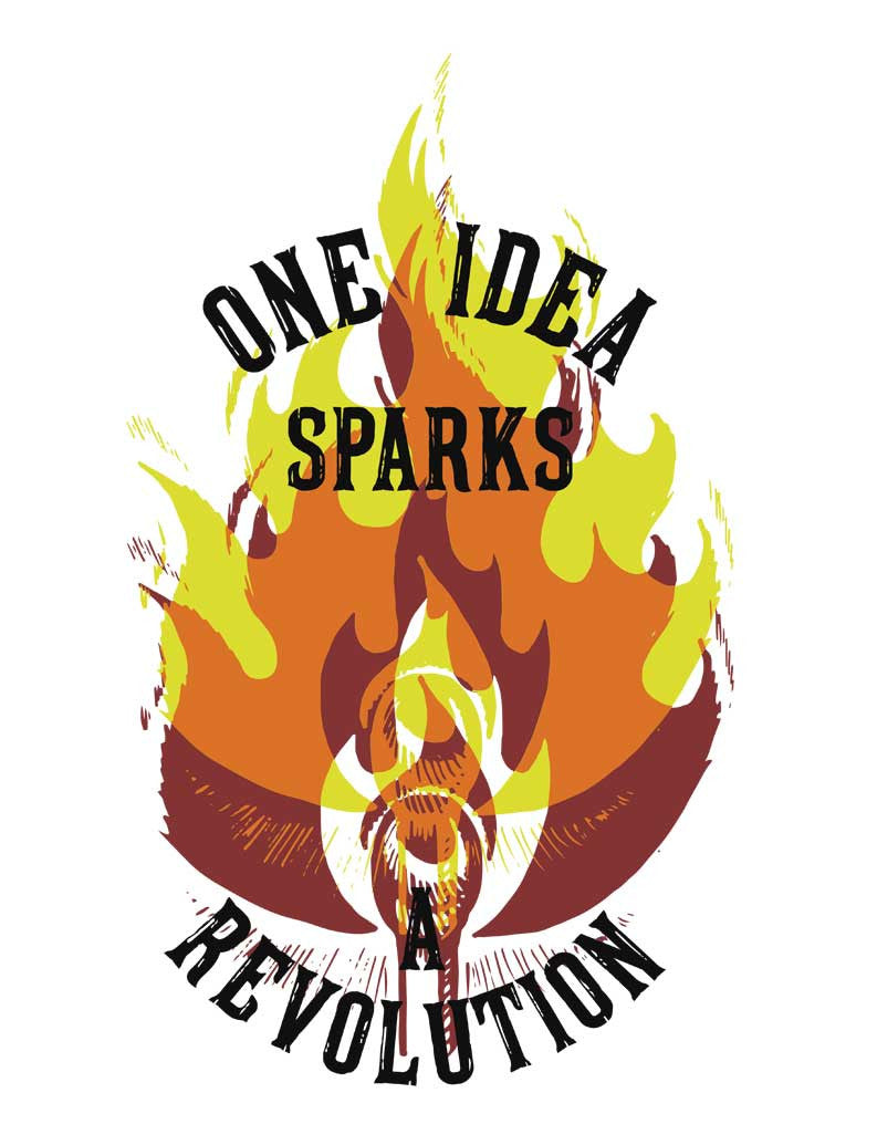 One Idea Sparks A Revolution Flowy V Neck