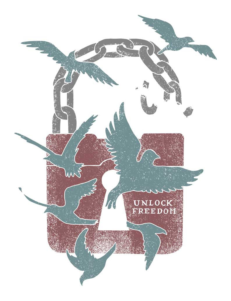 Unlock Freedom Triblend Short Sleeve Tee