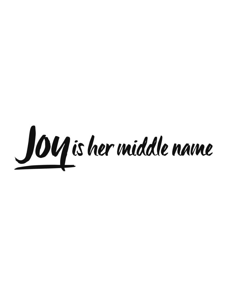 Joy Is Her Middle Name Triblend Short Sleeve Tee
