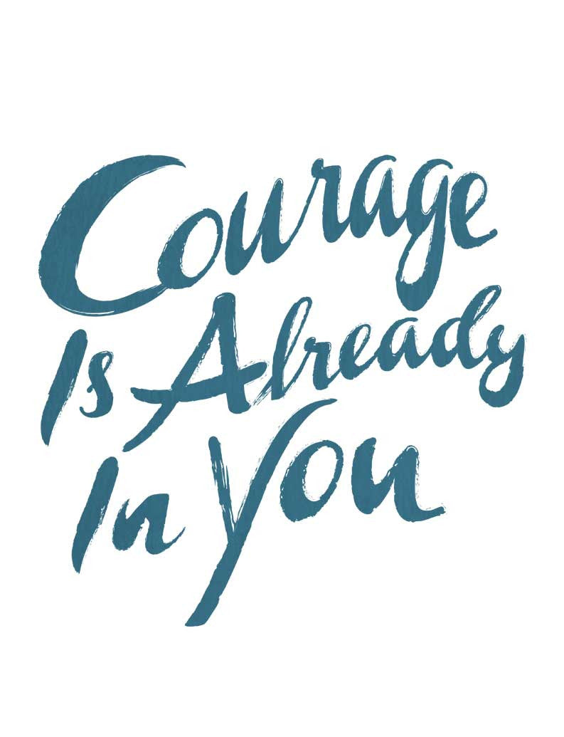 Courage Is Already In You Flowy V Neck