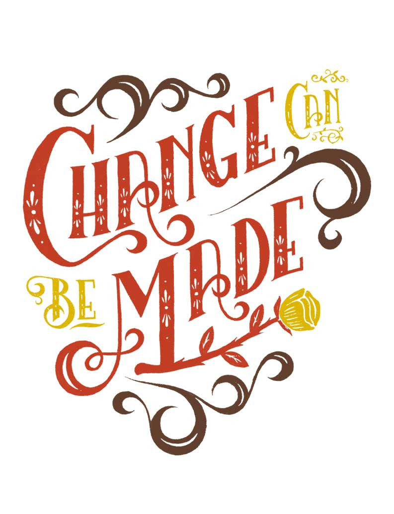 Change Can Be Made Flowy Raglan