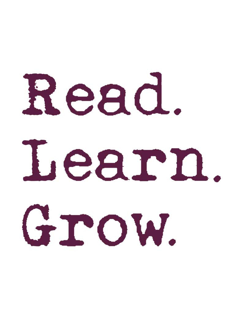 Read Learn Grow Flowy V Neck