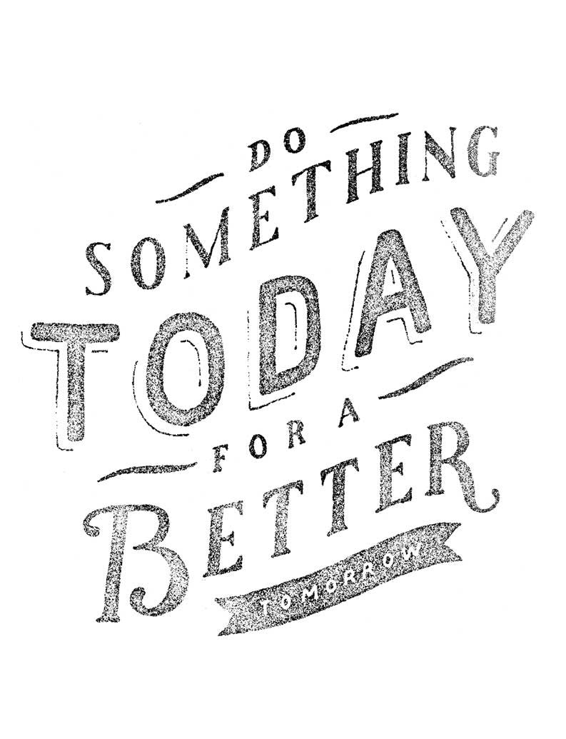 Do Something Today Triblend Racerback Tank