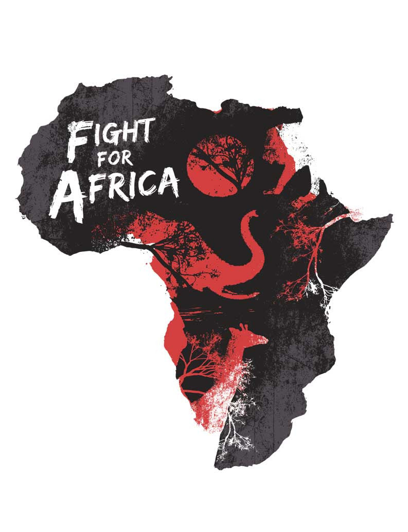 Fight For Africa Triblend Racerback Tank