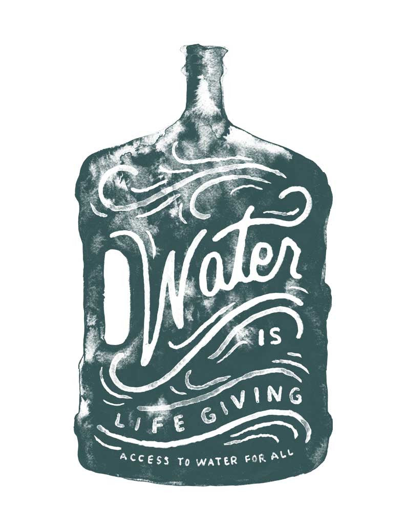 Water Is Life Giving Tee