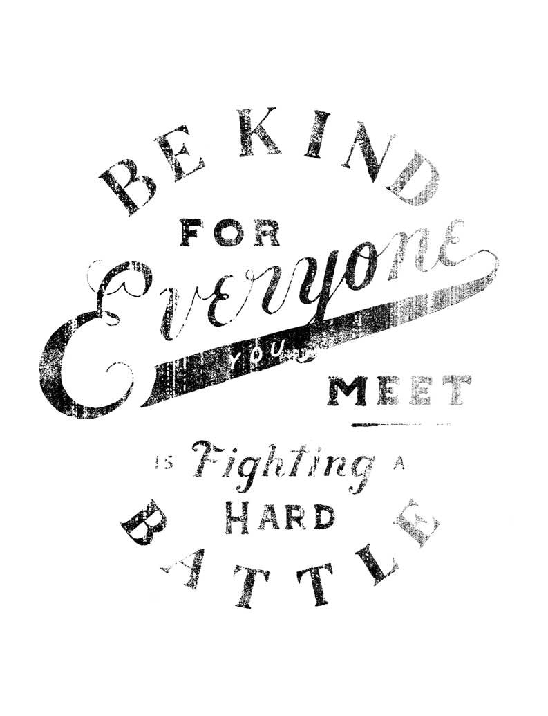 Be Kind Everyone Triblend Racerback Tank