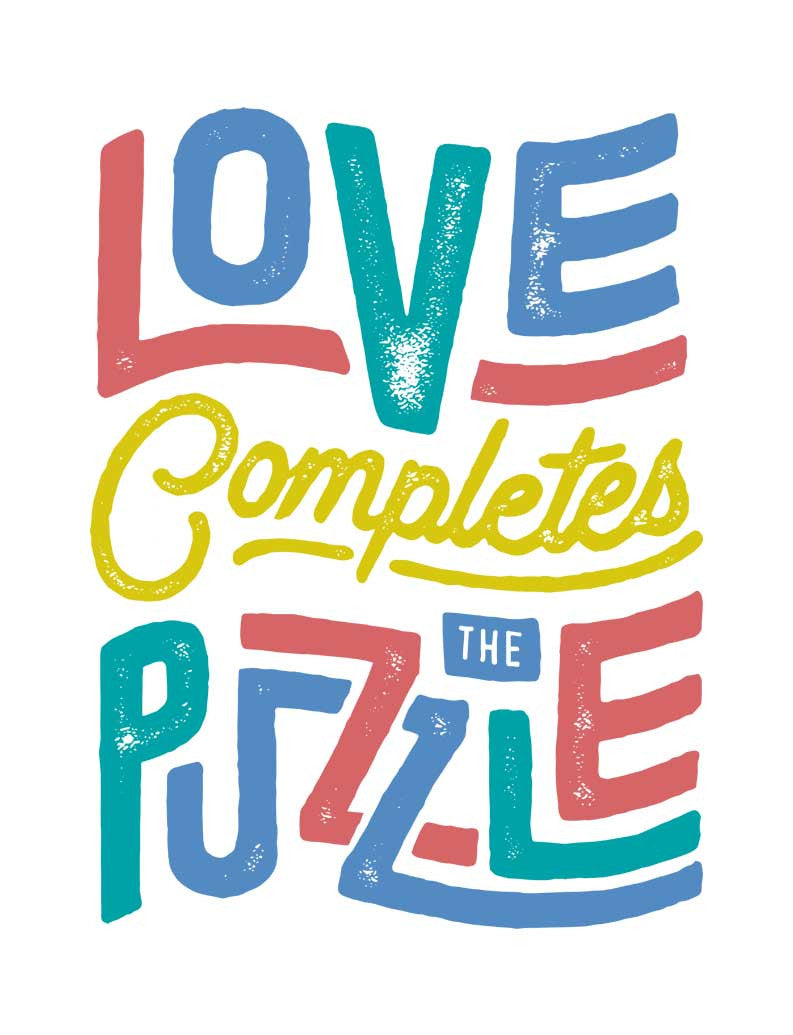 Love Completes The Puzzle Flowy V Neck