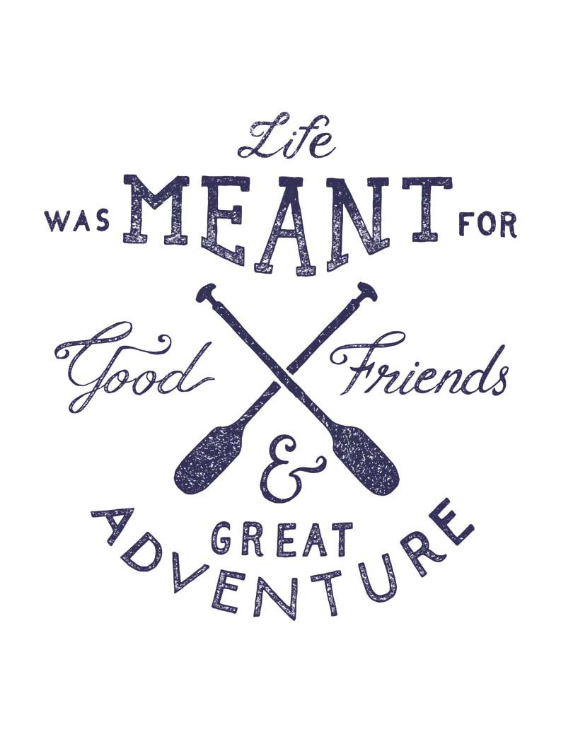 Life Was Meant For Good Friends Men's Tri-Blend Tee