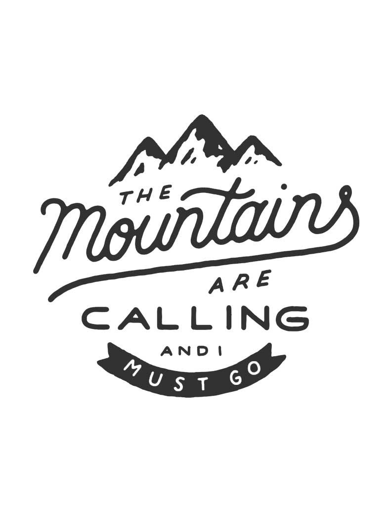 The Mountains Are Calling Tee Midnight Navy