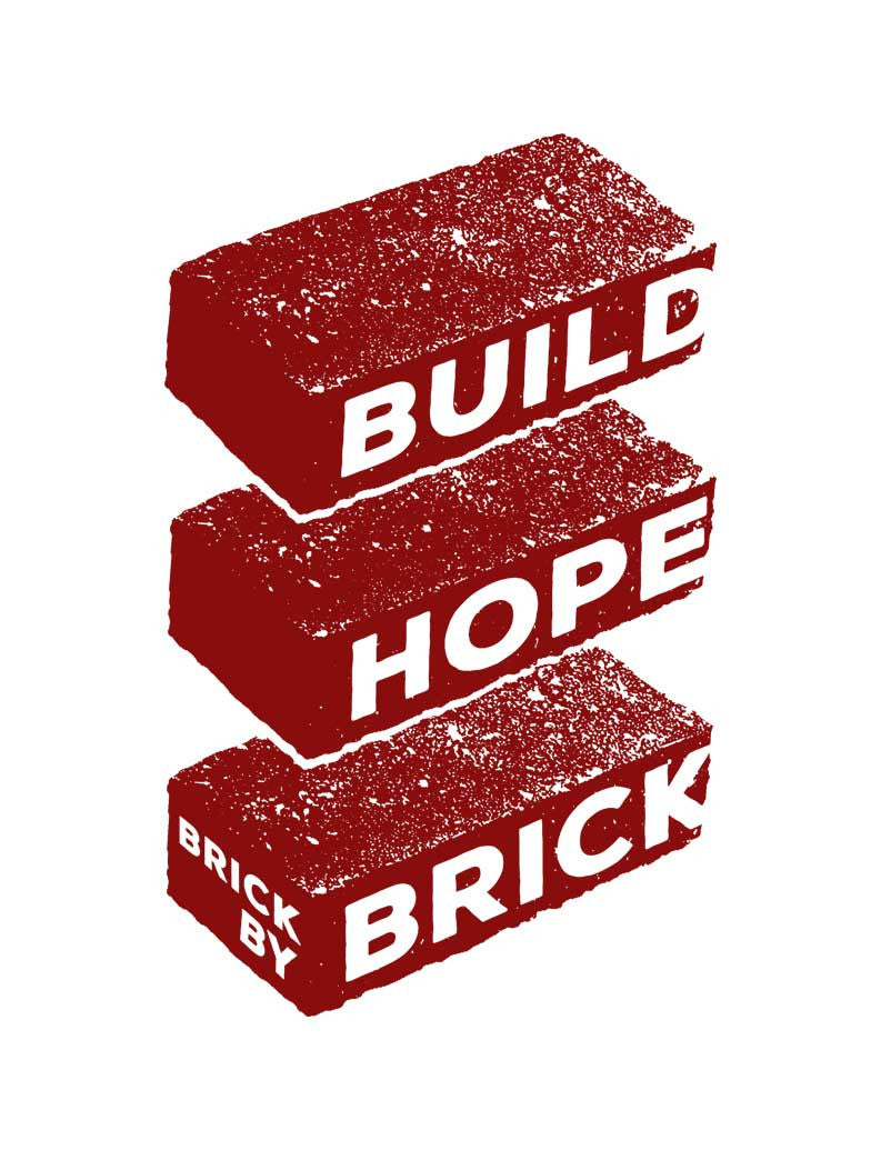 Build Hope Brick By Brick Womens Hoodie