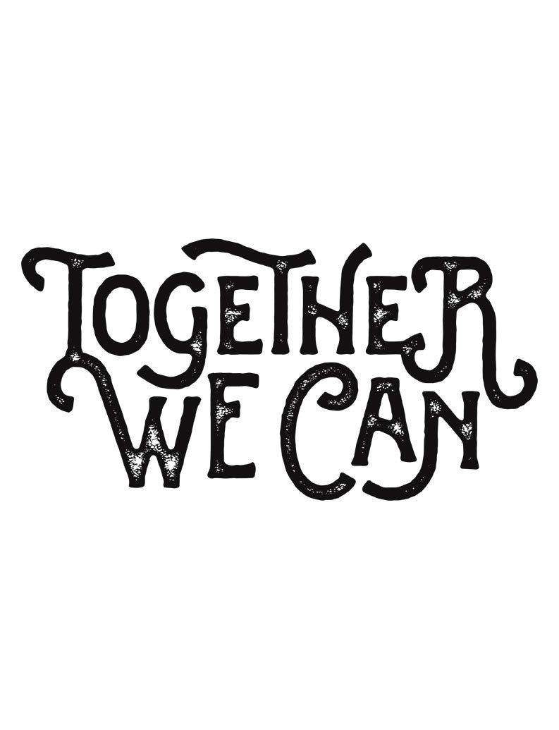 Together We Can Womens Baseball Tee