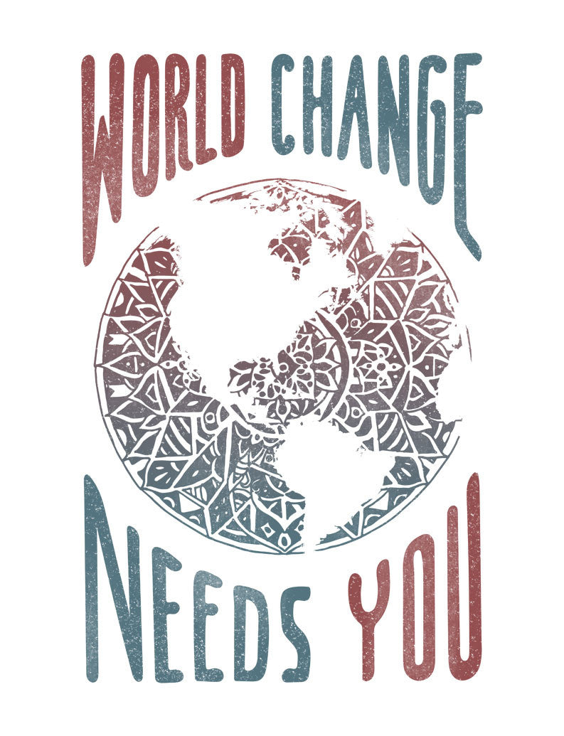 World Change Needs You Flowy V Neck