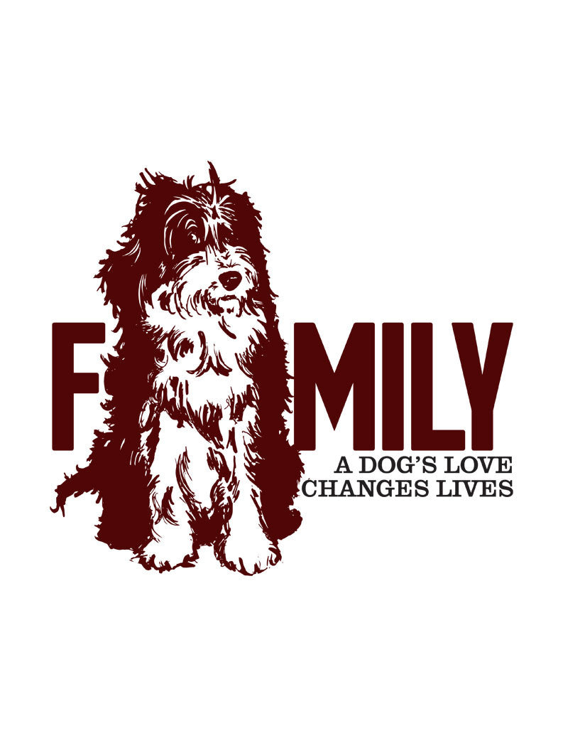 Family Dog Flowy V Neck