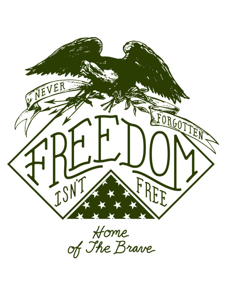 Freedom Is Not Free Triblend Racerback Tank