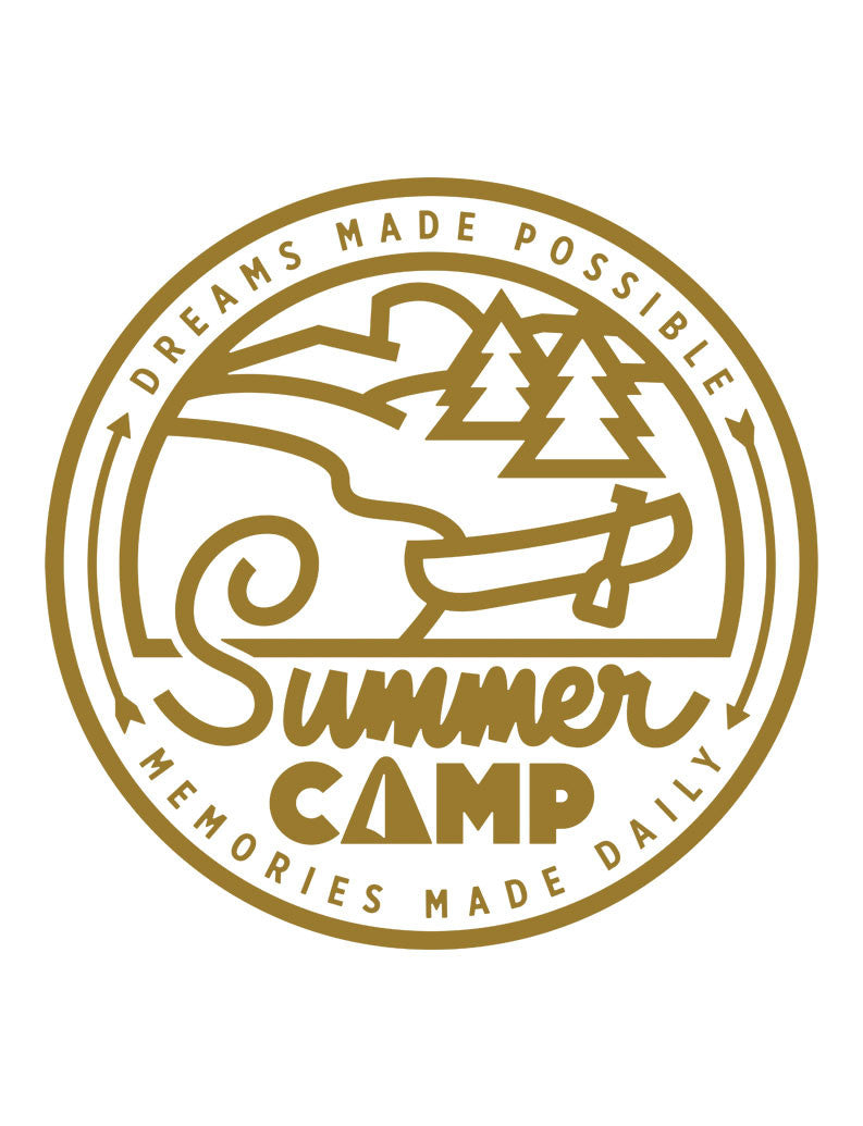 Summer Camp Triblend Racerback Tank