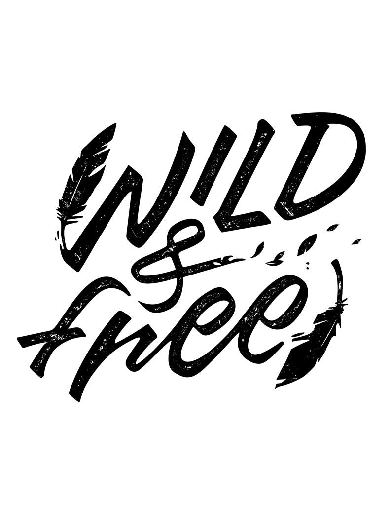 Wild and Free Triblend Racerback Tank