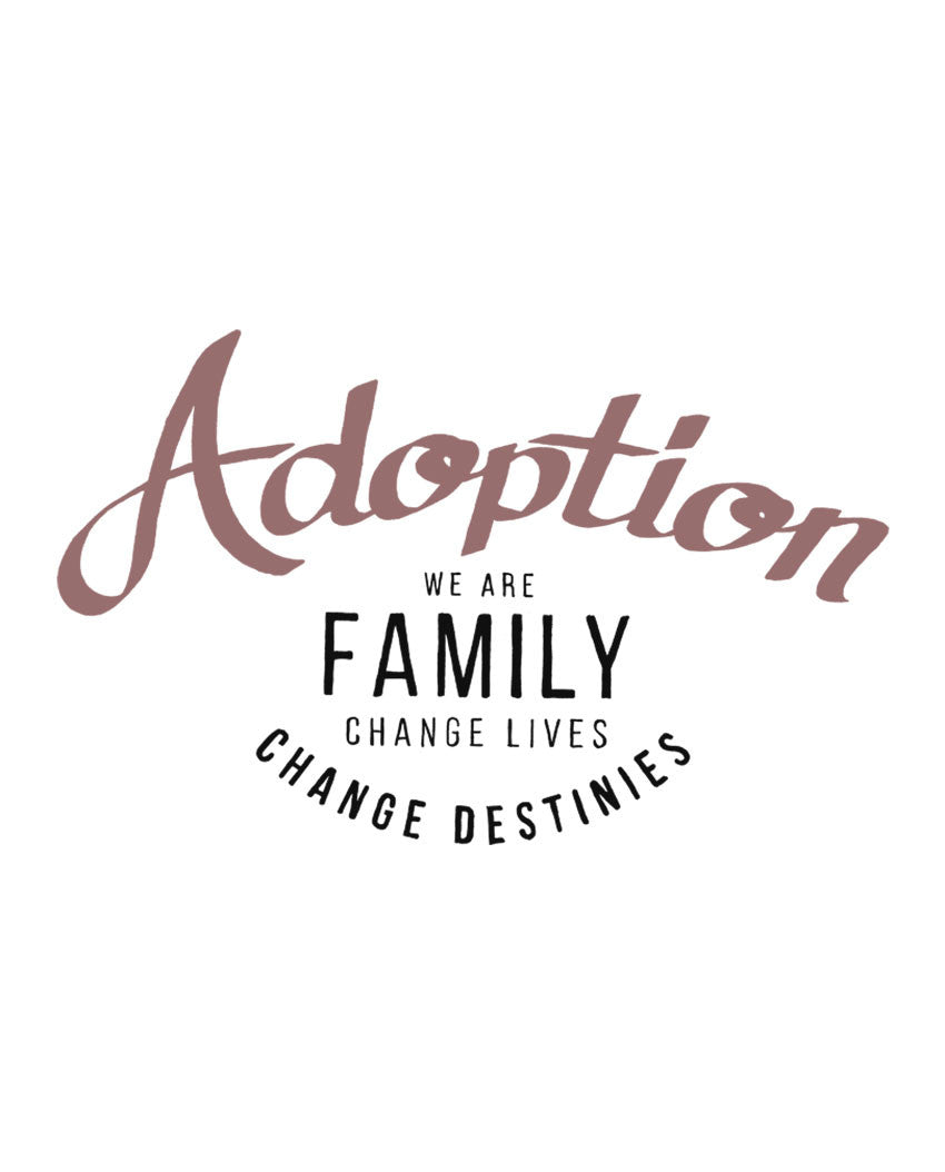 Adoption Changes Lives Triblend Racerback Tank