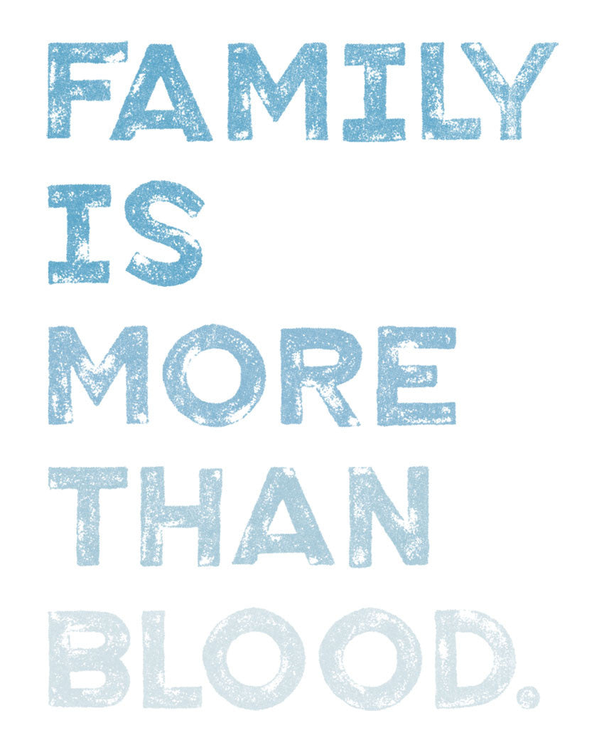 Family Is More Than Blood Triblend Racerback Tank