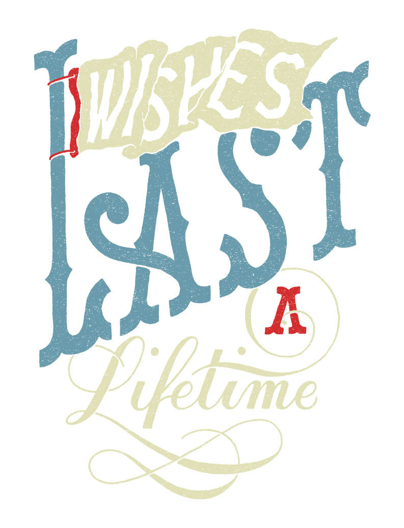 Wishes Last A Lifetime Flowy Racerback Tank