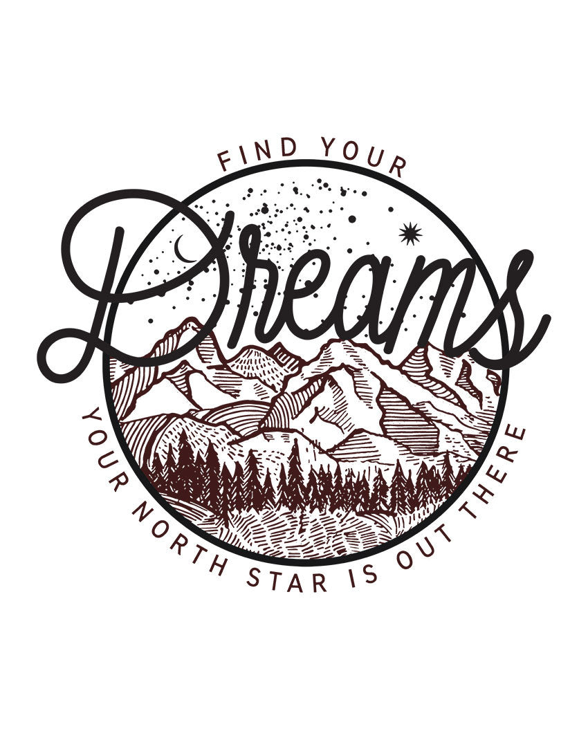 Find Your Dreams Flowy Racerback Tank