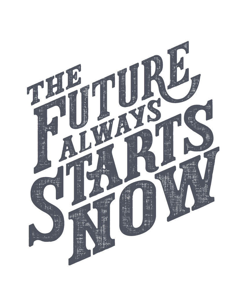 The Future Starts Now Mens Hoodie