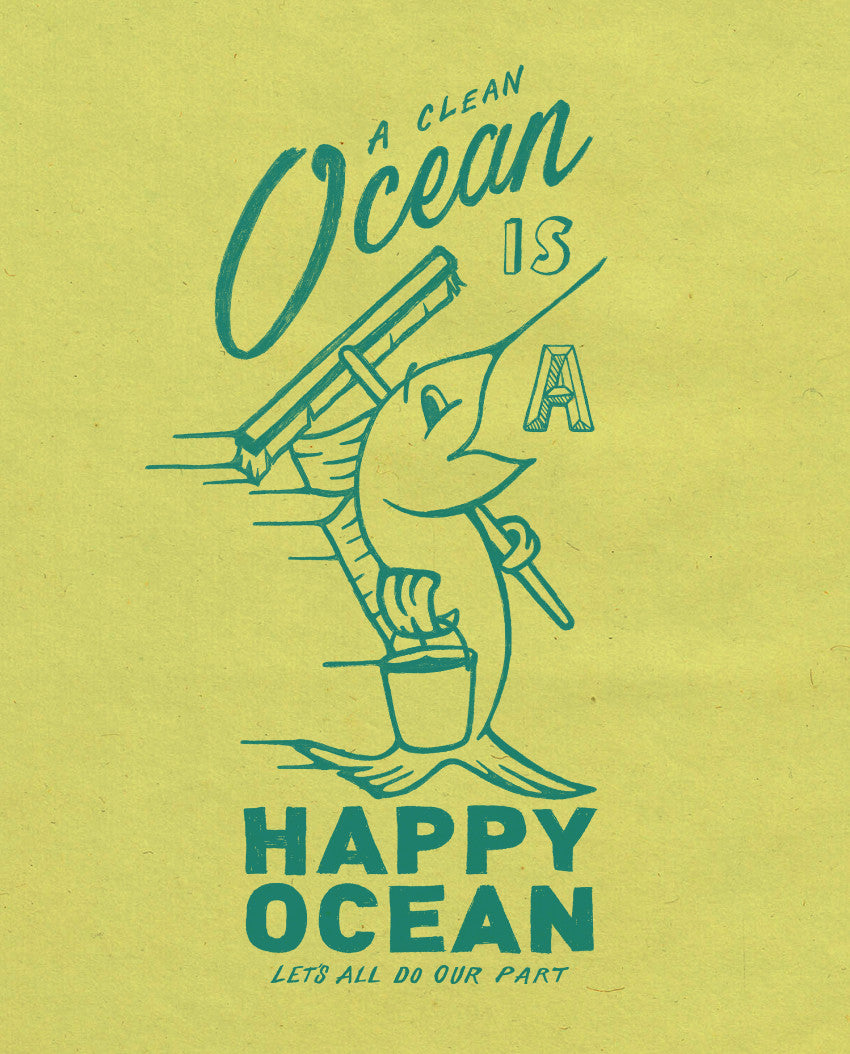 Happy Ocean Short Sleeve Youth Tee