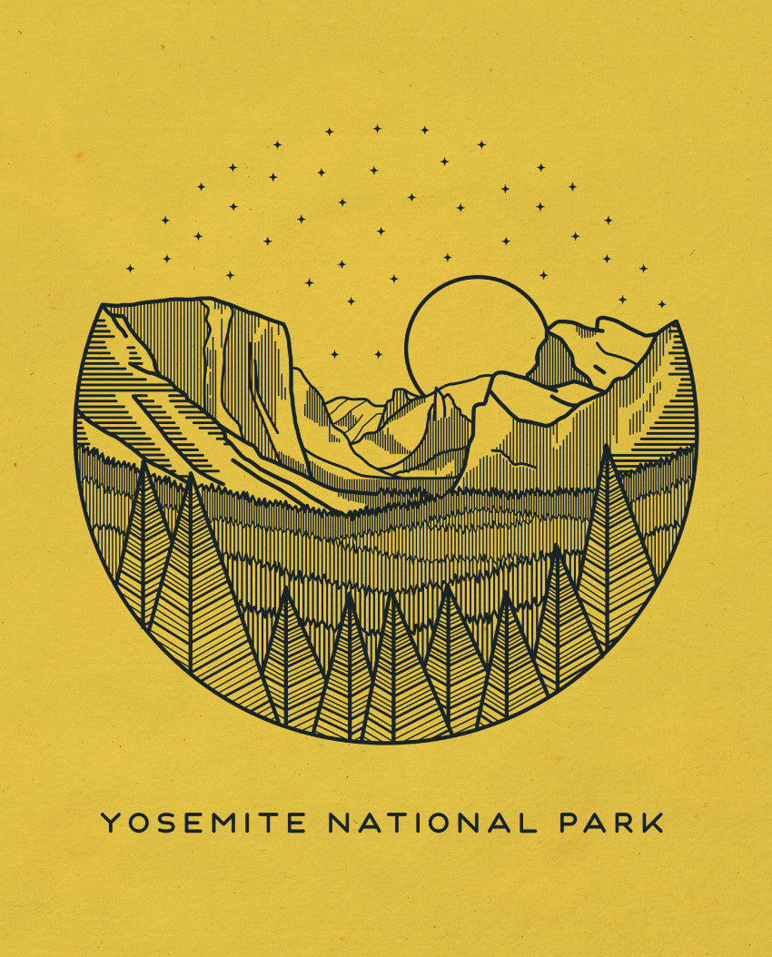 Yosemite National Park Triblend Short Sleeve Tee