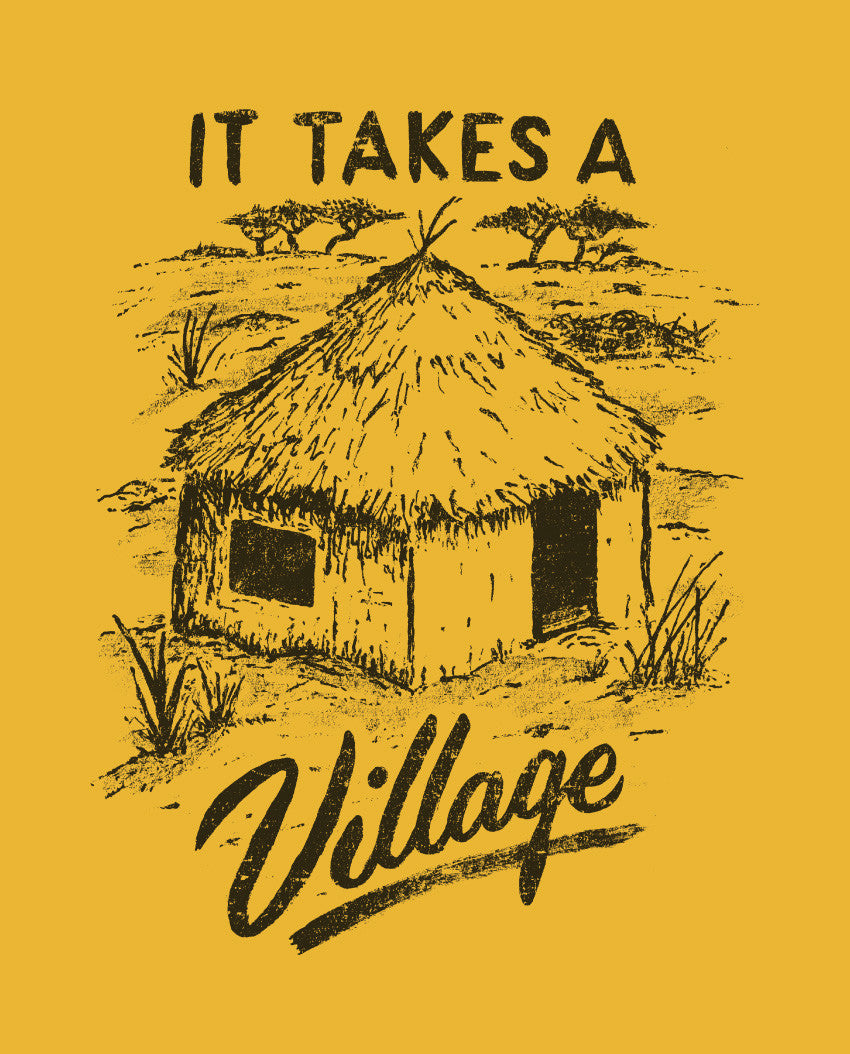 It Takes A Village Flowy Raglan