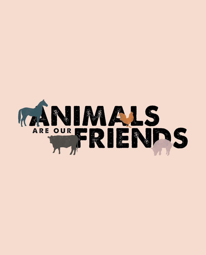 Animals Are Our Friends Fitted Tee
