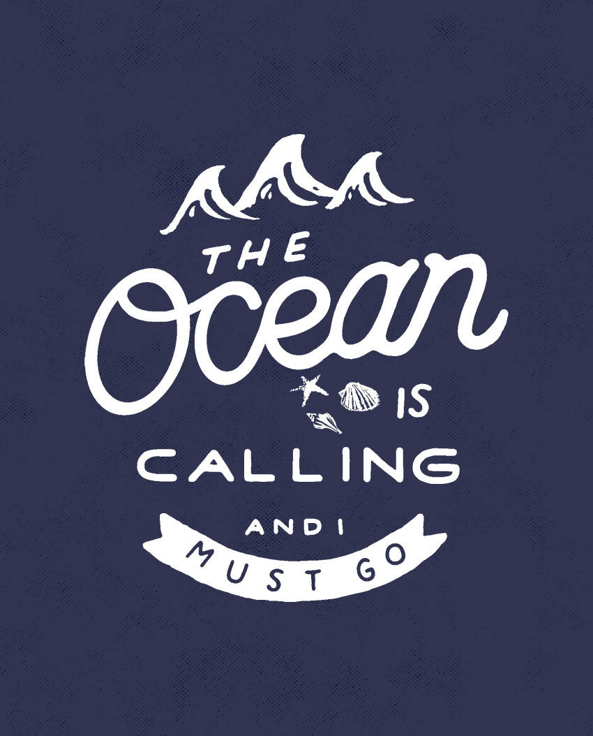 Ocean Is Calling Triblend Short Sleeve Tee