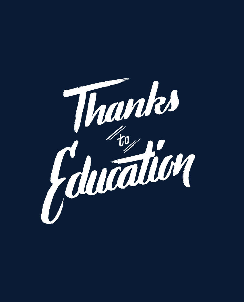 Thanks To Education Fitted Tee