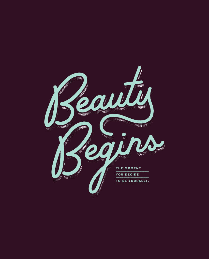 Beauty Begins Flowy Long Sleeve Tee